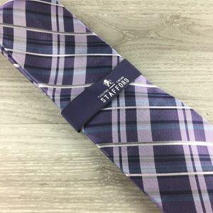 Stafford Purple Pattern Tie